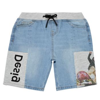Oblačila Dečki Kratke hlače & Bermuda Desigual 21SBDD02-5053 Modra