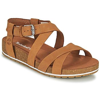 Čevlji  Ženske Sandali & Odprti čevlji Timberland MALIBU WAVES ANKLE Cognac