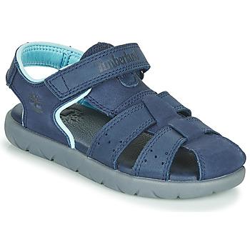 Čevlji  Otroci Sandali & Odprti čevlji Timberland NUBBLE LEATHER FISHERMAN Modra