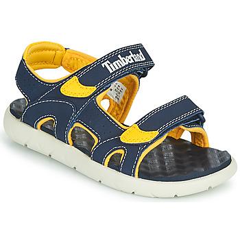 Čevlji  Otroci Sandali & Odprti čevlji Timberland PERKINS ROW 2-STRAP Modra / Rumena