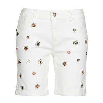 Oblačila Ženske Kratke hlače & Bermuda Desigual GRECIA Bela