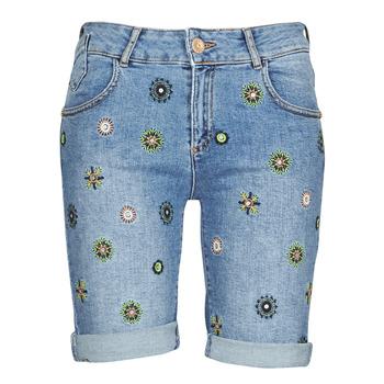 Oblačila Ženske Kratke hlače & Bermuda Desigual GRECIA Modra