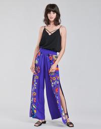 Oblačila Ženske Lahkotne hlače & Harem hlače Desigual CHIPRE Modra