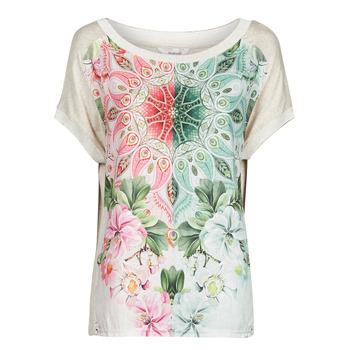 Oblačila Ženske Majice s kratkimi rokavi Desigual COPENHAGUE Bela