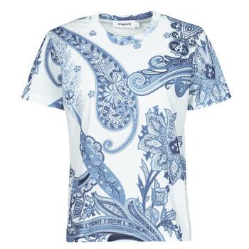Oblačila Ženske Majice s kratkimi rokavi Desigual POPASLEY Modra