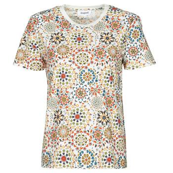Oblačila Ženske Majice s kratkimi rokavi Desigual LYON Bela