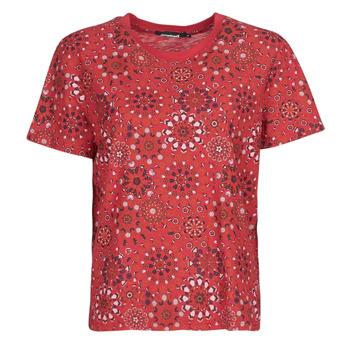 Oblačila Ženske Majice s kratkimi rokavi Desigual LYON Rdeča