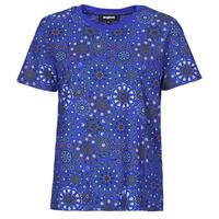 Oblačila Ženske Majice s kratkimi rokavi Desigual LYON Modra