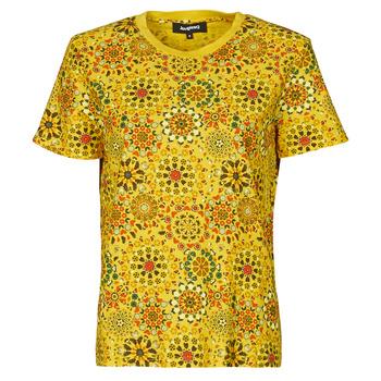Oblačila Ženske Majice s kratkimi rokavi Desigual LYON Rumena