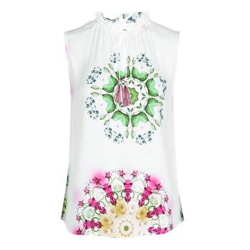 Oblačila Ženske Majice brez rokavov Desigual ROSEN Bela