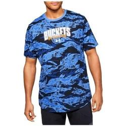 Oblačila Moški Majice s kratkimi rokavi Under Armour Baseline Verbiage Tee Modra, Mornarsko modra