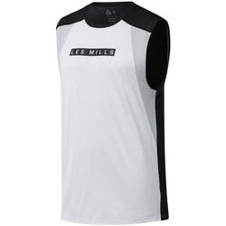 Oblačila Moški Majice s kratkimi rokavi Reebok Sport Les Mills Smartvent Bela, Črna