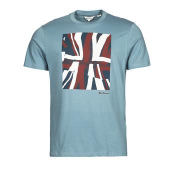 Oblačila Moški Majice s kratkimi rokavi Ben Sherman HALF TONE FLEG TEE Modra