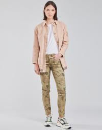 Oblačila Ženske Hlače s 5 žepi Cream LOTTE PRINTED Večbarvna