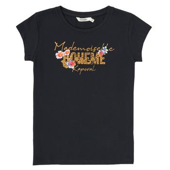 Oblačila Dečki Majice s kratkimi rokavi Kaporal ELISA Črna