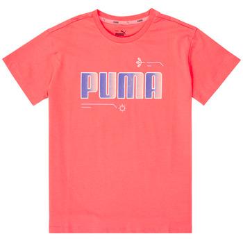 Oblačila Deklice Majice s kratkimi rokavi Puma ALPHA TEE Rožnata