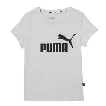 Oblačila Deklice Majice s kratkimi rokavi Puma ESS TEE Bela