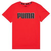 Oblačila Dečki Majice s kratkimi rokavi Puma ALPHA GRAF TEE Rdeča
