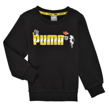 Oblačila Dečki Puloverji Puma SNOOPY PEANUTS CREW Črna