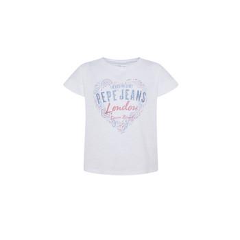 Oblačila Deklice Majice s kratkimi rokavi Pepe jeans PIPER Bela
