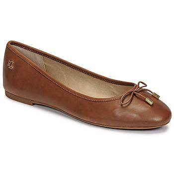 Čevlji  Ženske Balerinke Lauren Ralph Lauren JAYNA Cognac