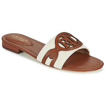 Čevlji  Ženske Natikači Lauren Ralph Lauren ALEGRA Cognac / Bež