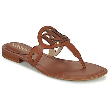 Čevlji  Ženske Sandali & Odprti čevlji Lauren Ralph Lauren AUDRIE Cognac