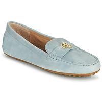Čevlji  Ženske Mokasini Lauren Ralph Lauren BARNSBURY FLATS CASUAL Modra / Nebeško modra