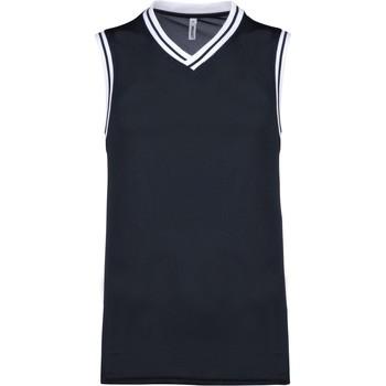 Oblačila Majice brez rokavov Proact Débardeur  university bleu marine/blanc