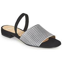 Čevlji  Ženske Sandali & Odprti čevlji Perlato 11117-YORK-ARGENT-CAM-NOIR Črna / Srebrna