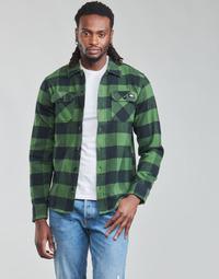 Oblačila Moški Srajce z dolgimi rokavi Dickies NEW SACRAMENTO SHIRT PINE GREEN Kaki / Črna