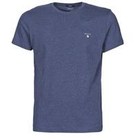 Oblačila Moški Majice s kratkimi rokavi Gant THE ORIGINAL T-SHIRT Modra