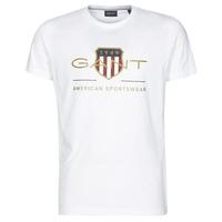 Oblačila Moški Majice s kratkimi rokavi Gant ARCHIVE SHIELD Bela