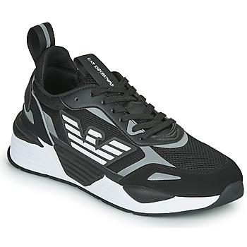 Čevlji  Moški Nizke superge Emporio Armani EA7 BLACES Črna