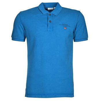 Oblačila Moški Polo majice kratki rokavi Napapijri ELBAS 4 Modra