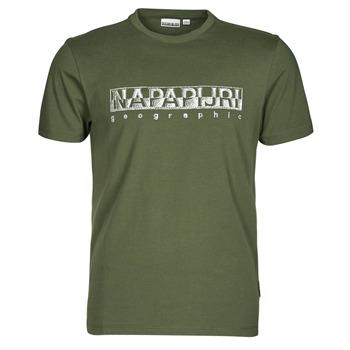 Oblačila Moški Majice s kratkimi rokavi Napapijri SALLAR SS Zelena