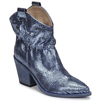 Čevlji  Ženske Gležnjarji Fru.it 6901-376-BLUE Modra