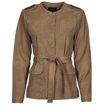 Oblačila Ženske Usnjene jakne & Sintetične jakne One Step DITA Cognac