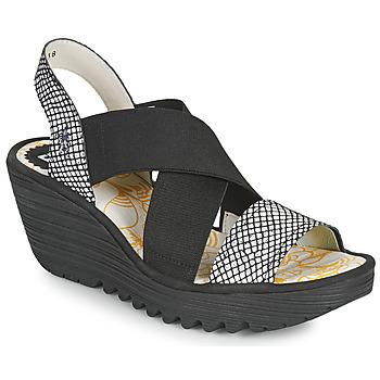 Čevlji  Ženske Sandali & Odprti čevlji Fly London YAJI Črna / Bela