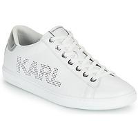 Čevlji  Ženske Nizke superge Karl Lagerfeld KUPSOLE II KARL PUNKT LOGO LO Bela