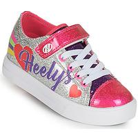 Čevlji  Deklice Čevlji s koleščki Heelys SNAZZY X2 Srebrna / Večbarvna