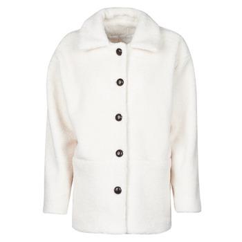 Oblačila Ženske Plašči Betty London NUMIM Kremno bela