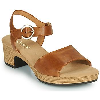 Čevlji  Ženske Sandali & Odprti čevlji Gabor 6272153 Kamel