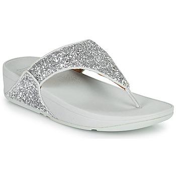Čevlji  Ženske Japonke FitFlop LULU GLITTER Srebrna