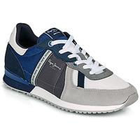 Čevlji  Moški Nizke superge Pepe jeans TINKER ZERO 21 Siva / Modra