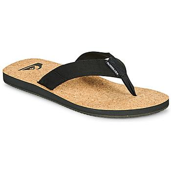 Čevlji  Moški Japonke Quiksilver MOLOKAI ABYSS NATURAL Črna