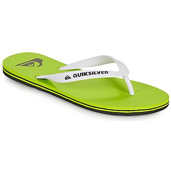 Čevlji  Moški Japonke Quiksilver MOLOKAI Zelena / Bela