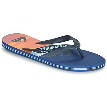 Čevlji  Moški Japonke Quiksilver MOLOKAI PANEL Modra / Oranžna / Črna