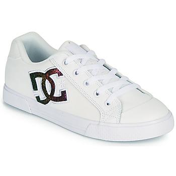 Čevlji  Ženske Skate čevlji DC Shoes CHELSEA J Bela / Rožnata