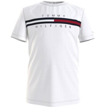 Oblačila Dečki Majice s kratkimi rokavi Tommy Hilfiger KB0KB06532-YBR Bela
